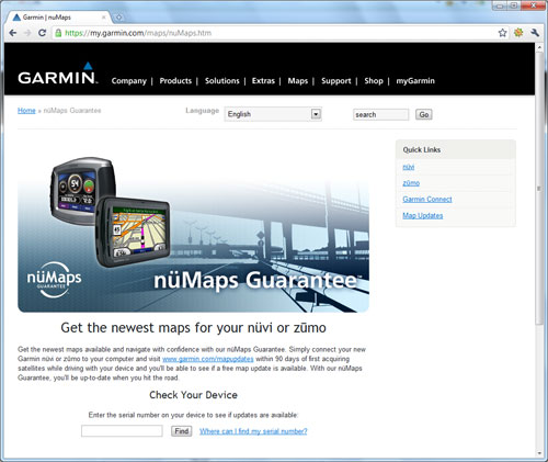 Download Garmin nuMaps Guarantee